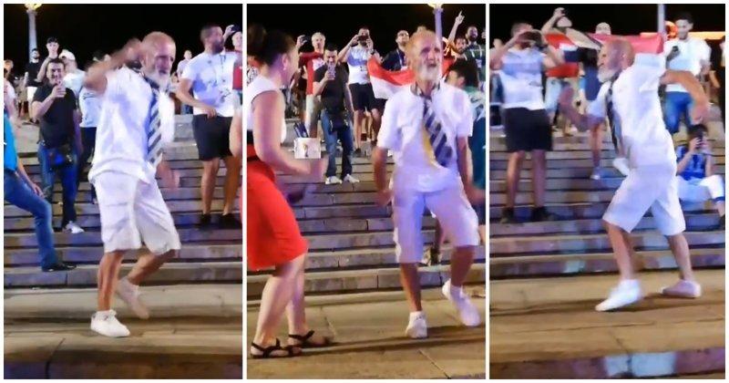 Колоритный дедушка зажег на фестивале болельщиков в Волгограде болельщики, видео, волгоград, дедушка, прикол, танец, чемпиона мира, юмор
