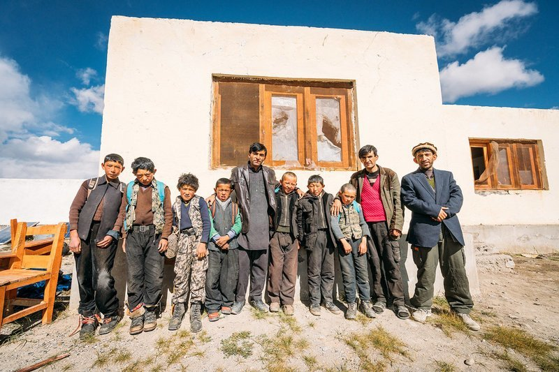 Киргизские школьники  Ваханский коридор, афганистан, вид, горы, природа, путешествие, фотомир