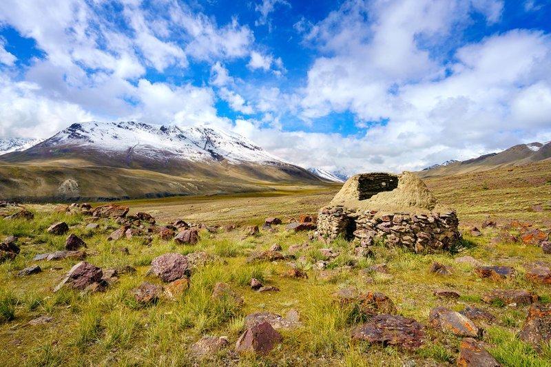 Разрушенное жилище из камня  Ваханский коридор, афганистан, вид, горы, природа, путешествие, фотомир