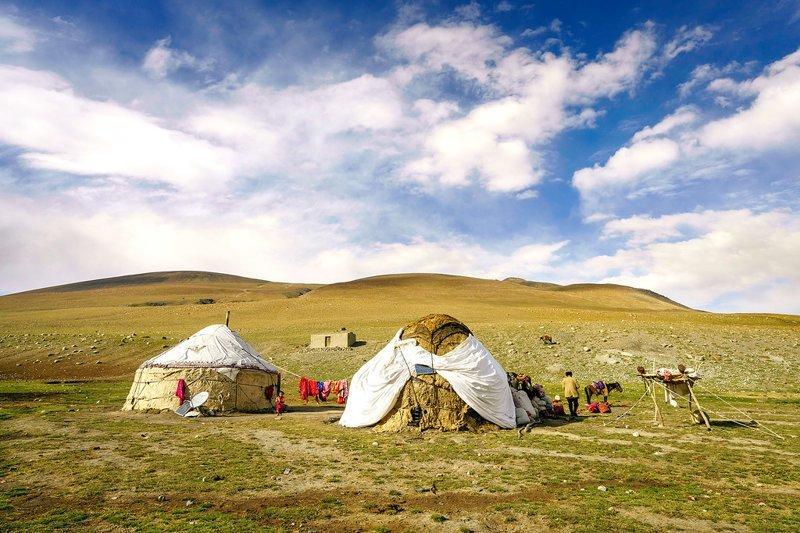 Поселение киргизов  Ваханский коридор, афганистан, вид, горы, природа, путешествие, фотомир