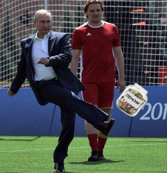 Владимир Путин попинал мяч и стал жертвой фотошоперов ynews, интересное, президент, путин, фото, футбол, чм-2018