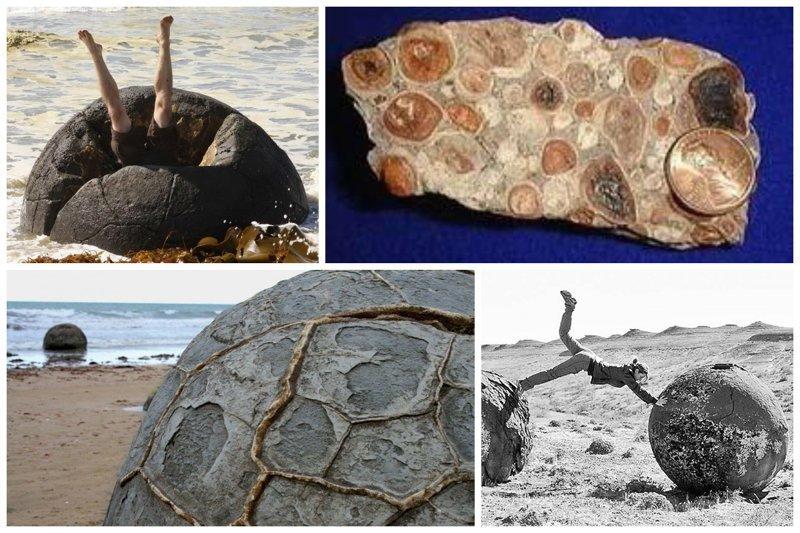 Конкреции - малые минеральные тела округлой формы самых разных очертаний бобовины, геология, земля, камни, конкреции, чудо