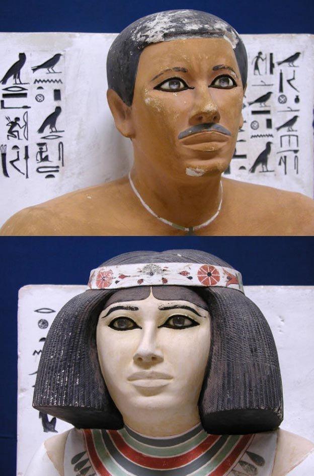 Смотрящие в вечность. откуда взялись кварцевые линзы в глазах изваяний древнего египта? архиология, древность, загадки, история