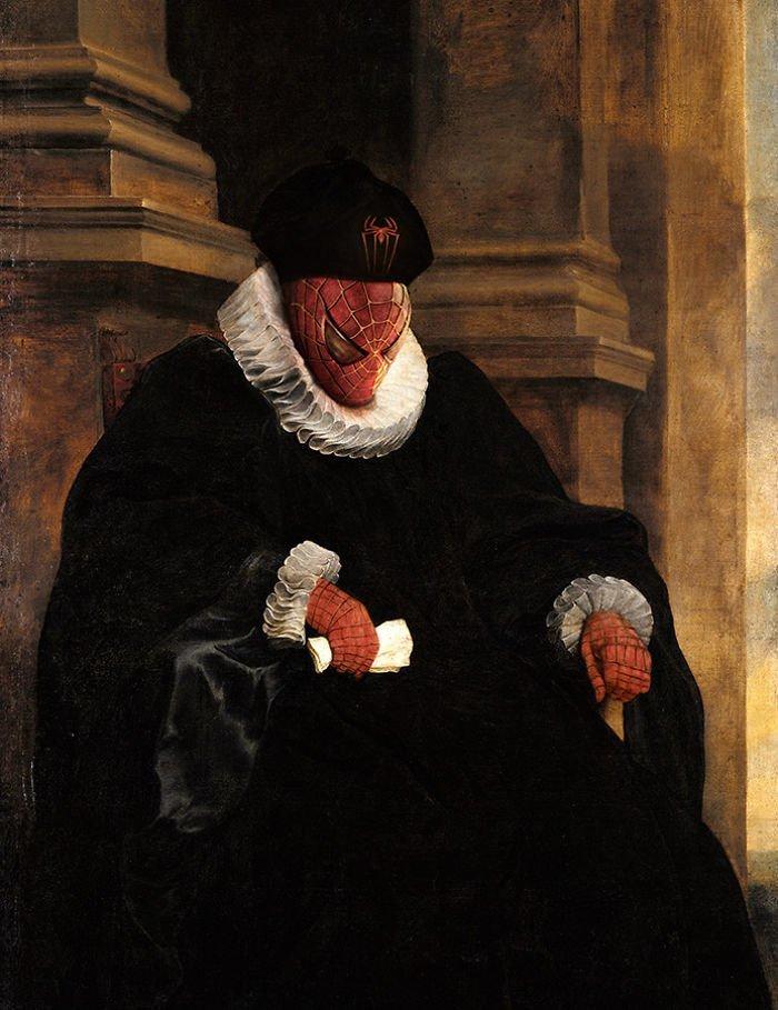 18. Питер Паркер I возрождение, животные, необычное, портрет, портреты, портреты животных, проект, художник