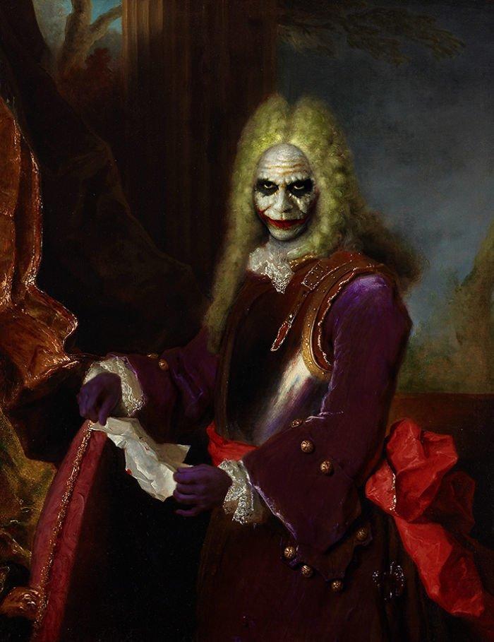 17. Лорд Джокер возрождение, животные, необычное, портрет, портреты, портреты животных, проект, художник