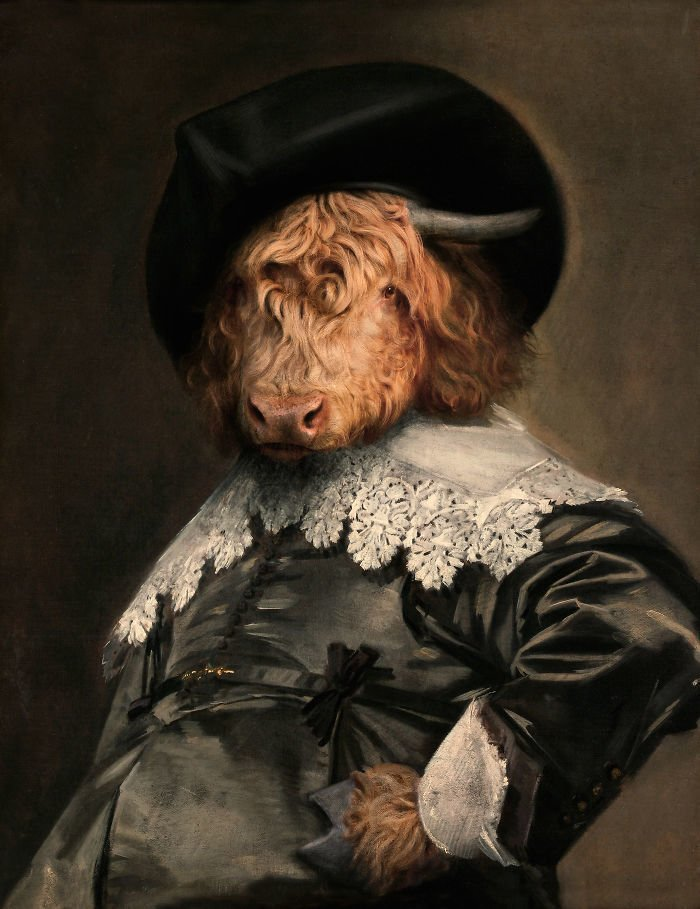 12. Барон Горный Бык возрождение, животные, необычное, портрет, портреты, портреты животных, проект, художник