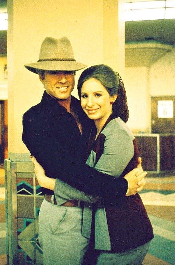 Роберт Редфорд и Барбра Стрейзанд на съемочной площадке «The Way We We Are», 1971. кинематограф, ностальгия, ретро