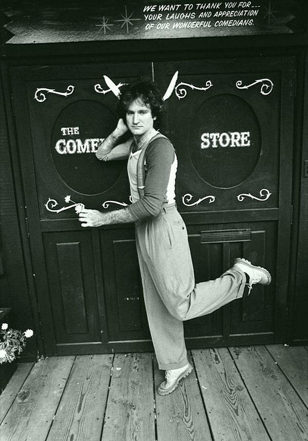 Робин Уильямс в 1978 году. кинематограф, ностальгия, ретро