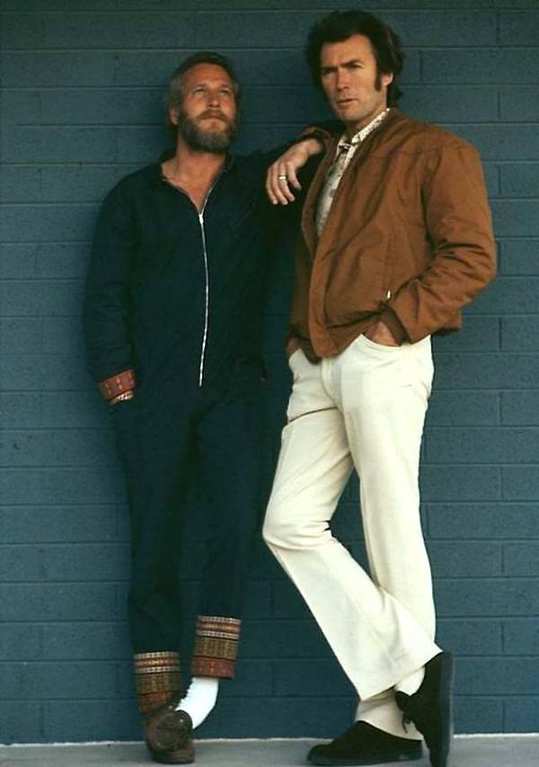 Пол Ньюман и Клинт Иствуд (1972) кинематограф, ностальгия, ретро