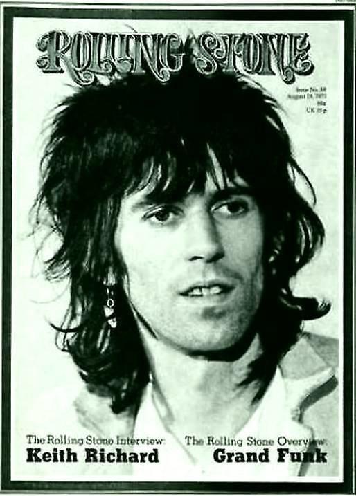 Кит Ричардс на обложке Rolling Stone , 1971. 1970-ые, Кит Ричардс, Музыка 20 века