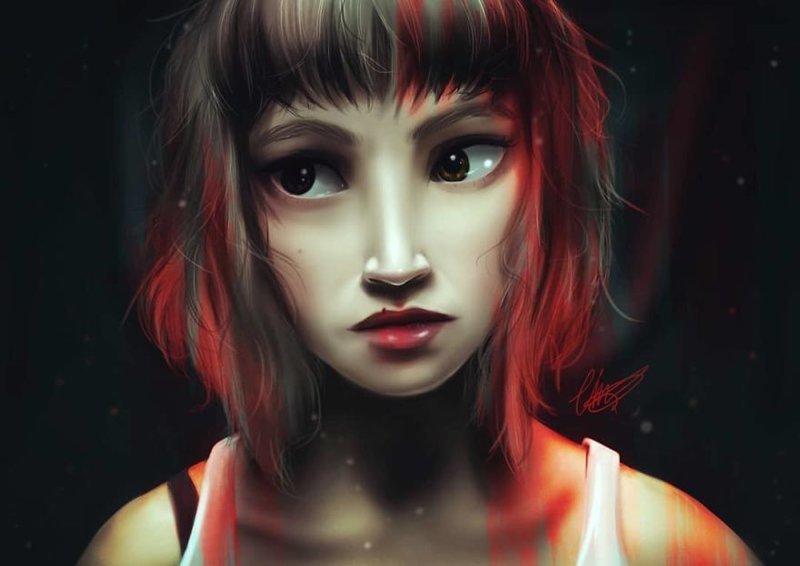 """21. Токио (""""Бумажный дом"""") иллюстрации, киногерои, мимими, мультяшки, персонажи, поп-культура, фан-арты, цифровые портреты"""
