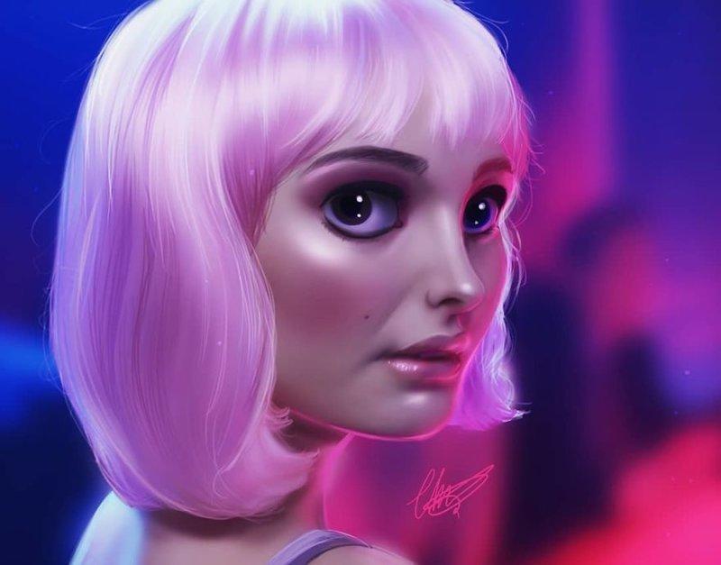 """24. Элис (""""Близость"""") иллюстрации, киногерои, мимими, мультяшки, персонажи, поп-культура, фан-арты, цифровые портреты"""