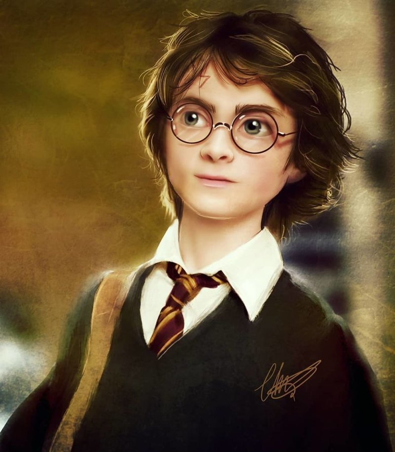 6. Гарри Поттер иллюстрации, киногерои, мимими, мультяшки, персонажи, поп-культура, фан-арты, цифровые портреты