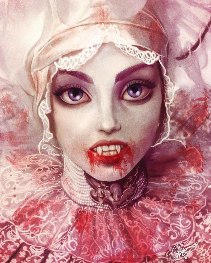 """25. Люси Вестенра (""""Дракула"""") иллюстрации, киногерои, мимими, мультяшки, персонажи, поп-культура, фан-арты, цифровые портреты"""
