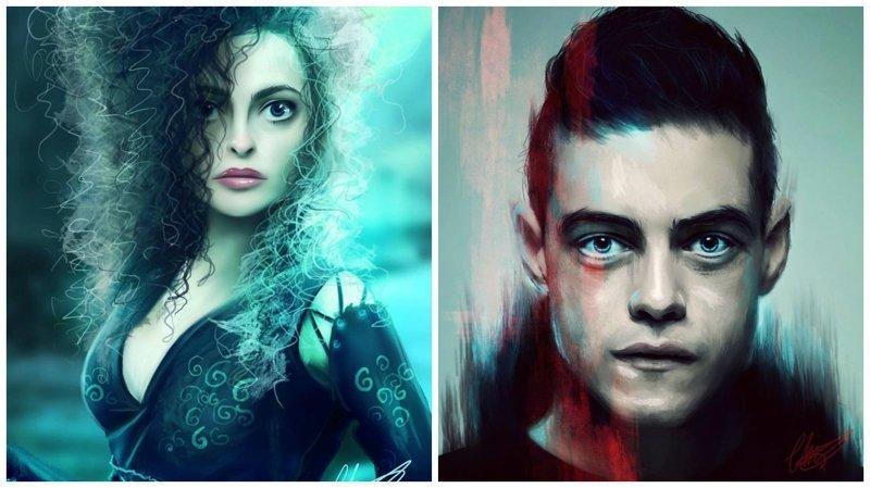 Цифровые портреты известных персонажей поп-культуры от Шарлотты Лебретон иллюстрации, киногерои, мимими, мультяшки, персонажи, поп-культура, фан-арты, цифровые портреты