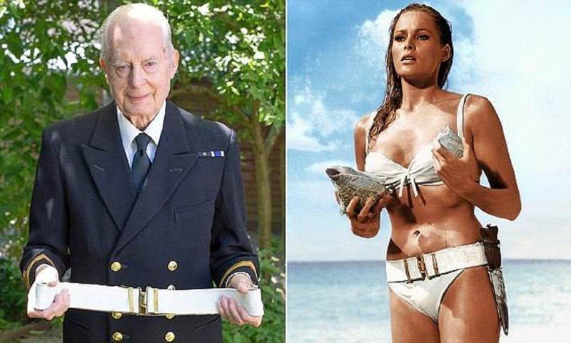 """Тайны кино: как морской офицер одел девушку Бонда """"Доктор Ноу"""", Бондиана, Урсула Андресс, девушка Бонда, джеймс бонд, знаменитое бикини, секреты кино, тайный помощник"""