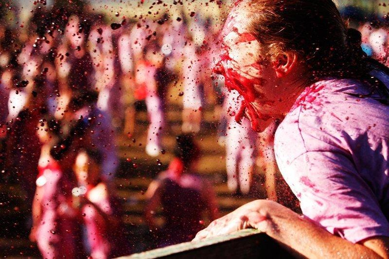 """Когда вино льется рекой: Фестиваль винных боев """"Баталья-дель-Вино"""" в Испании Фестиваль, в мире, вино, испания, люди, праздник"""