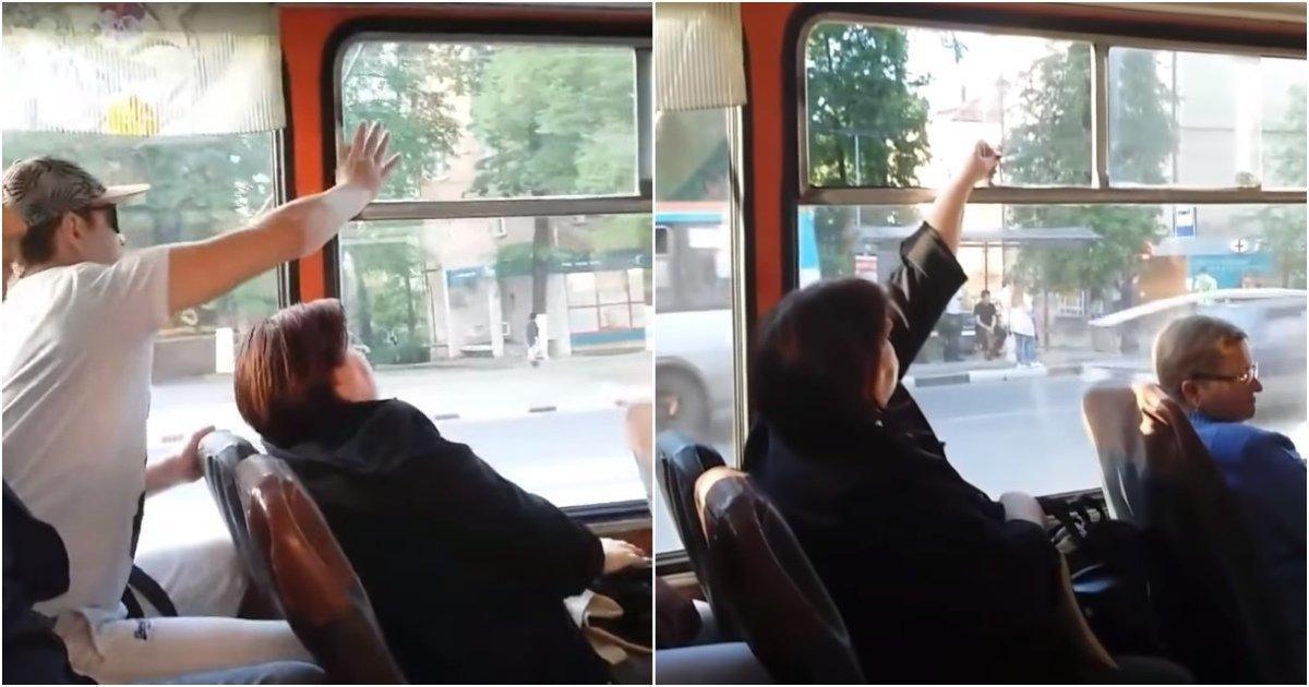 Битва за форточку в нижегородском троллейбусе