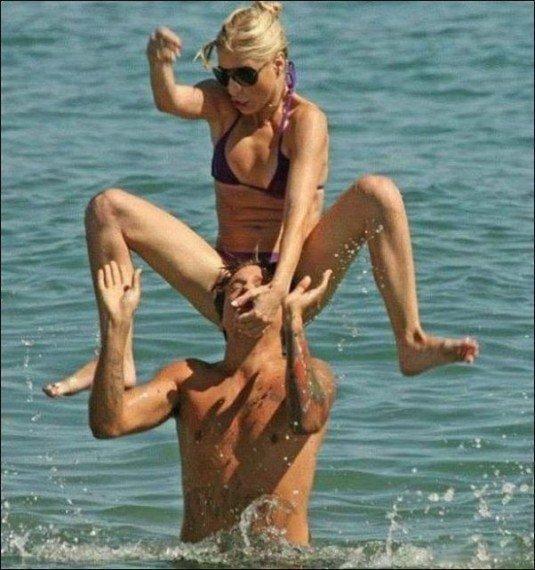Когда твоя девушка - фанатка рестлинга жизнь, люди, отдыхающие, пляж, фейл, юмор