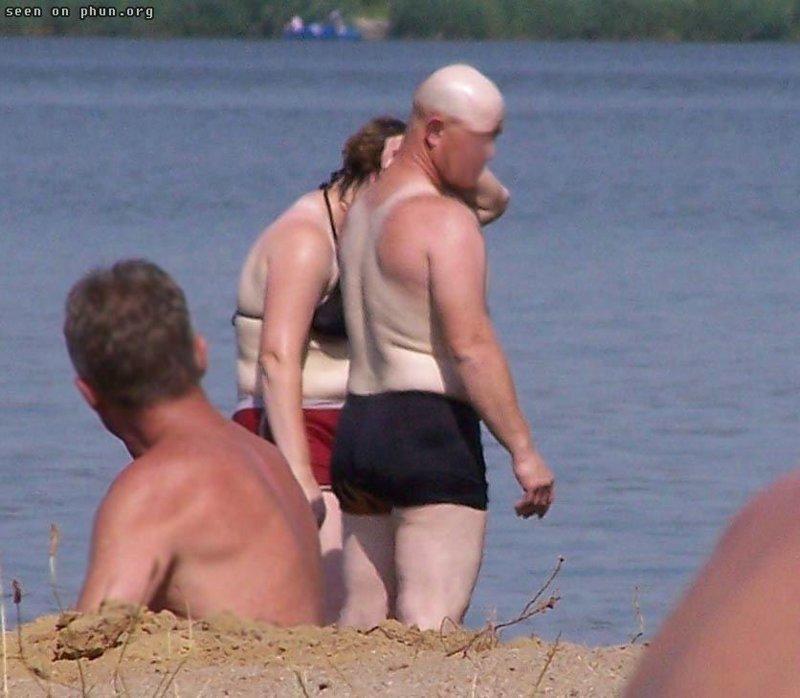 Загар пловца жизнь, люди, отдыхающие, пляж, фейл, юмор