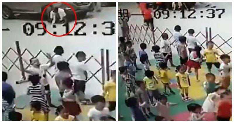 Китаянки вручную подняли внедорожник, чтобы освободить мужчину: видео China, Gu'an, Hebei Province, авария, видео, воспитатели, женщины, помощь