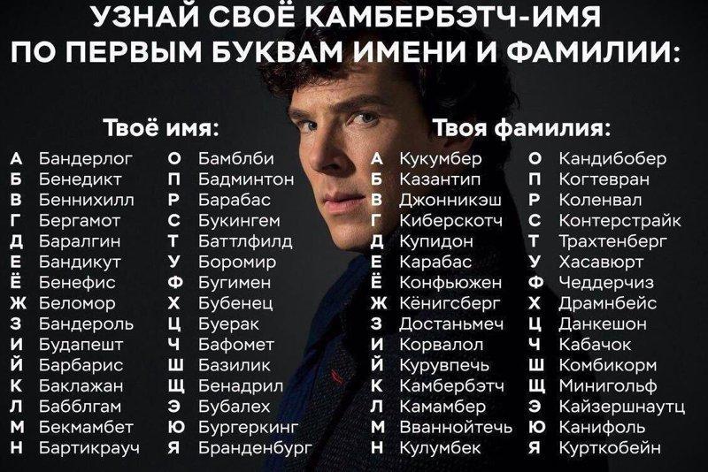 А какое у тебя камбербэтч имя? Камбербэтч, звезды, имя, сложности, юмор