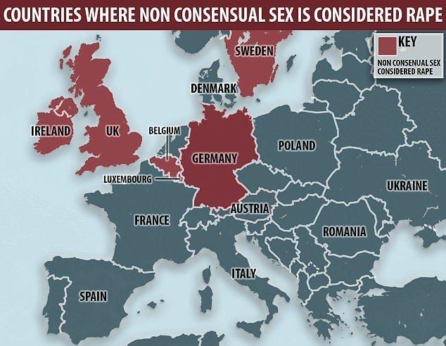 Швеция стала не первой страной, признавшей секс без согласия изнасилованием. Ранее это сделали Великобритания, Республика Ирландия, Бельгия, Люксембург, Германия и еще несколько стран ynews, Согласие, закон, законодательство, изнасилование, секс, сексуальны преступления, швеция