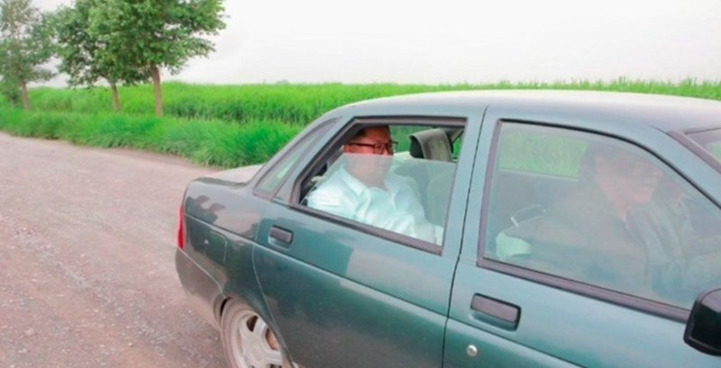 Ким Чен Ын проехался на старенькой Lada Priora ynews, авто, аттракцион, инспекция, интересное, ким чен ын, приора