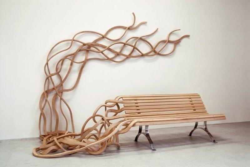 Многие из этих скамеечек являются специальными дизайнерскими работами интересное, искусство, креатив, лавочки, произведение искусства, скамеечки, фото