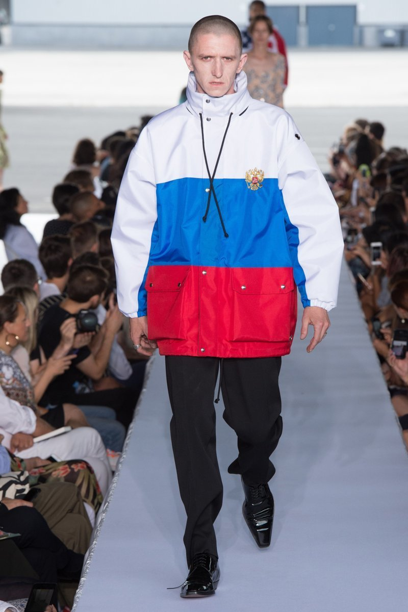 Одежда для патриотов Vetements, spring2019, ynews, весна-лето 2019, интересно, мода, от кутюр