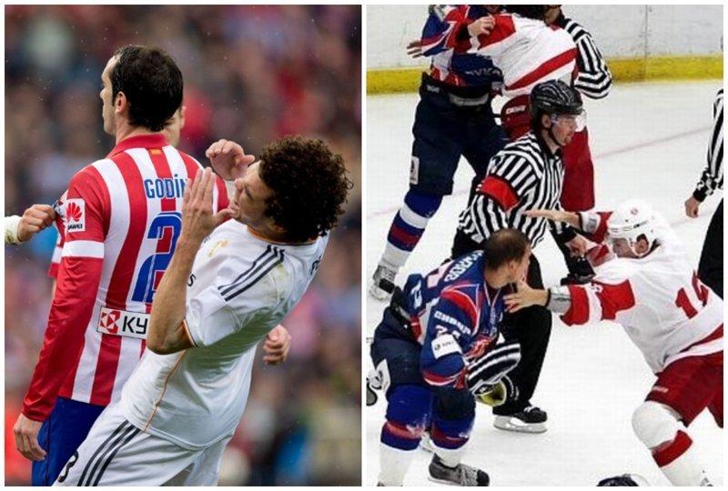 12. Как выглядит драка в футболе и хоккее симулянты, симуляция в футболе, смешные гифки, футбол, хоккей