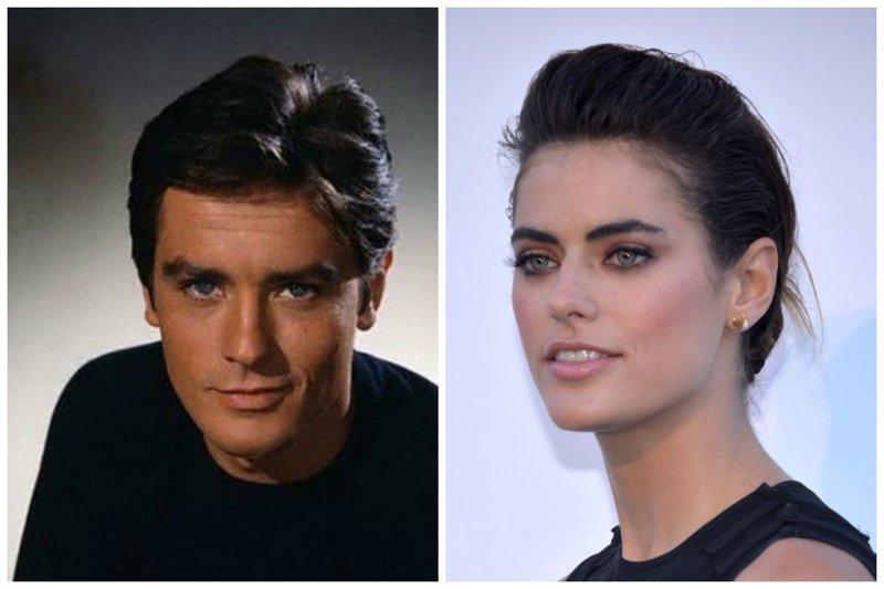 Ален Делон и Элисон Ле Борже звезды, известные и знаменитые, интересно, медийные персоны, потомки
