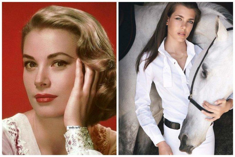 Грейс Келли и Шарлотта Казираги звезды, известные и знаменитые, интересно, медийные персоны, потомки