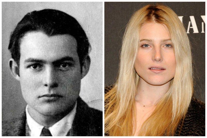 Эрнест Хемингуэй и Дри Хемингуэй. звезды, известные и знаменитые, интересно, медийные персоны, потомки