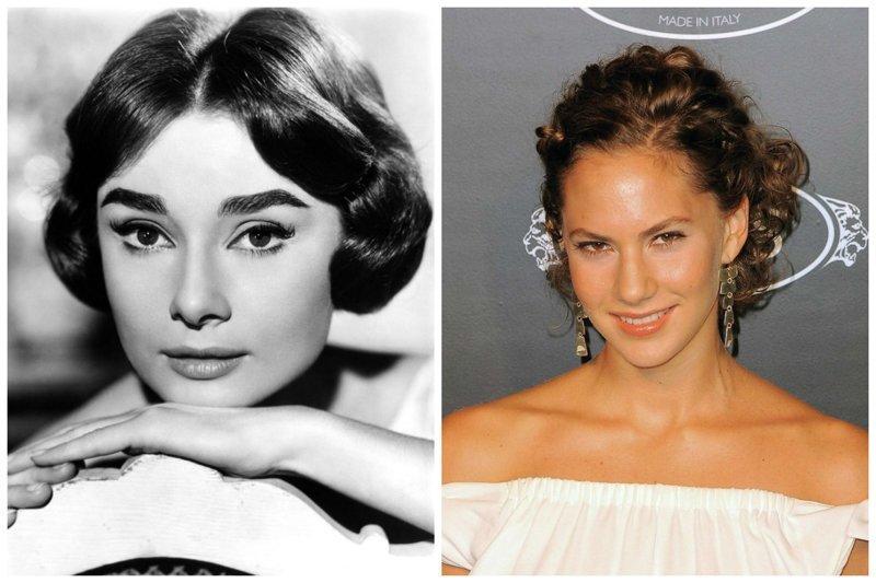 Одри Хепбергн и Эмма Феррер звезды, известные и знаменитые, интересно, медийные персоны, потомки