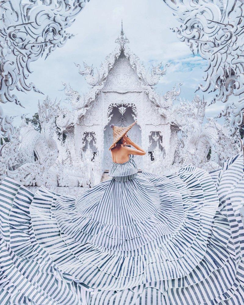 3. Белый храм, Чианграй, Таиланд вау, девушки в платьях, красивые  места, красивые девушки, красота мира, модели, платья, фотопроект