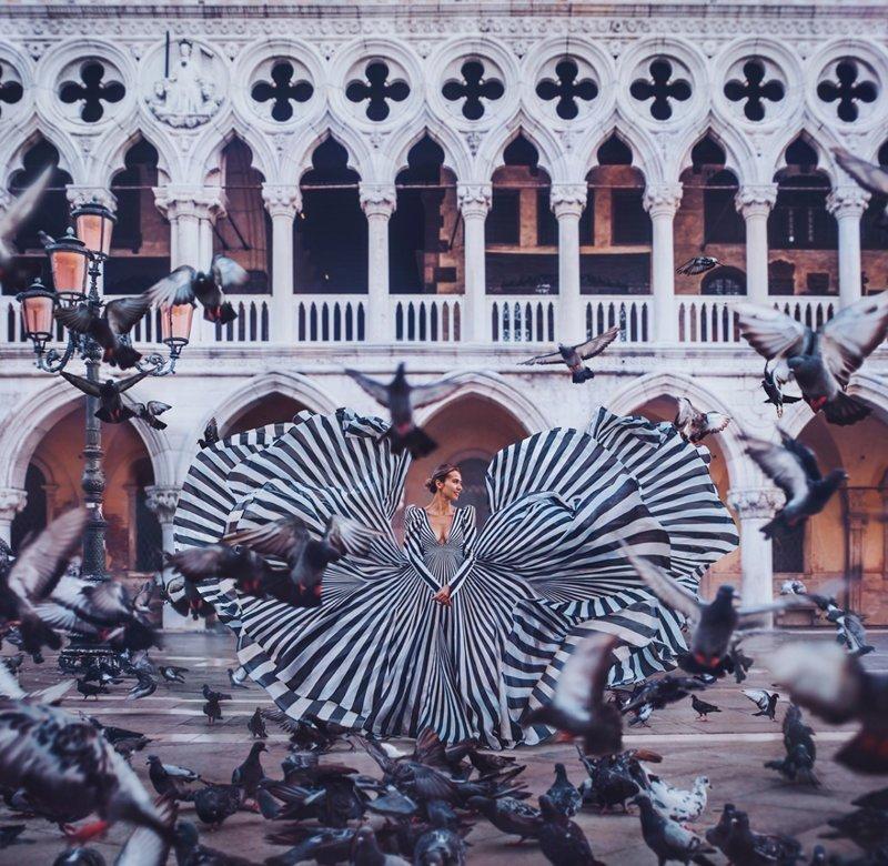 7. Венеция, Италия вау, девушки в платьях, красивые  места, красивые девушки, красота мира, модели, платья, фотопроект