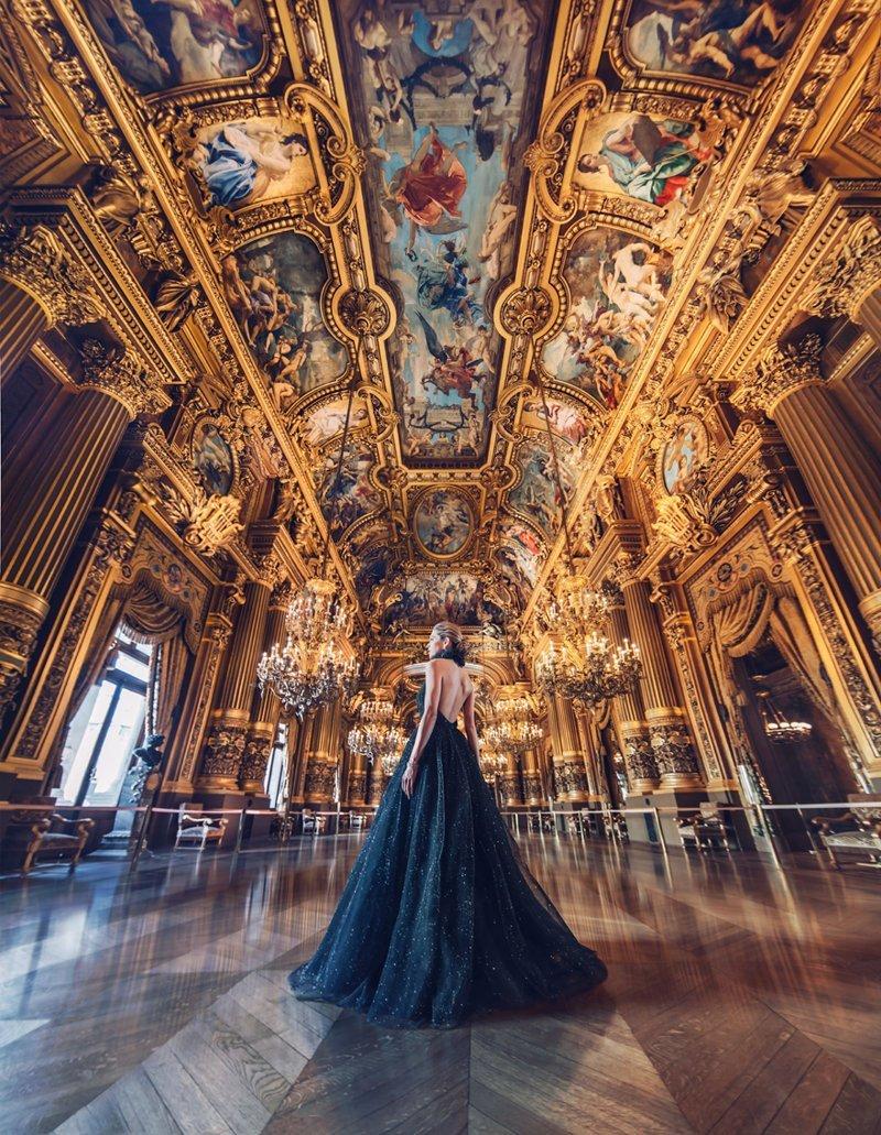 28. Опера Гарнье, Париж, Франция вау, девушки в платьях, красивые  места, красивые девушки, красота мира, модели, платья, фотопроект