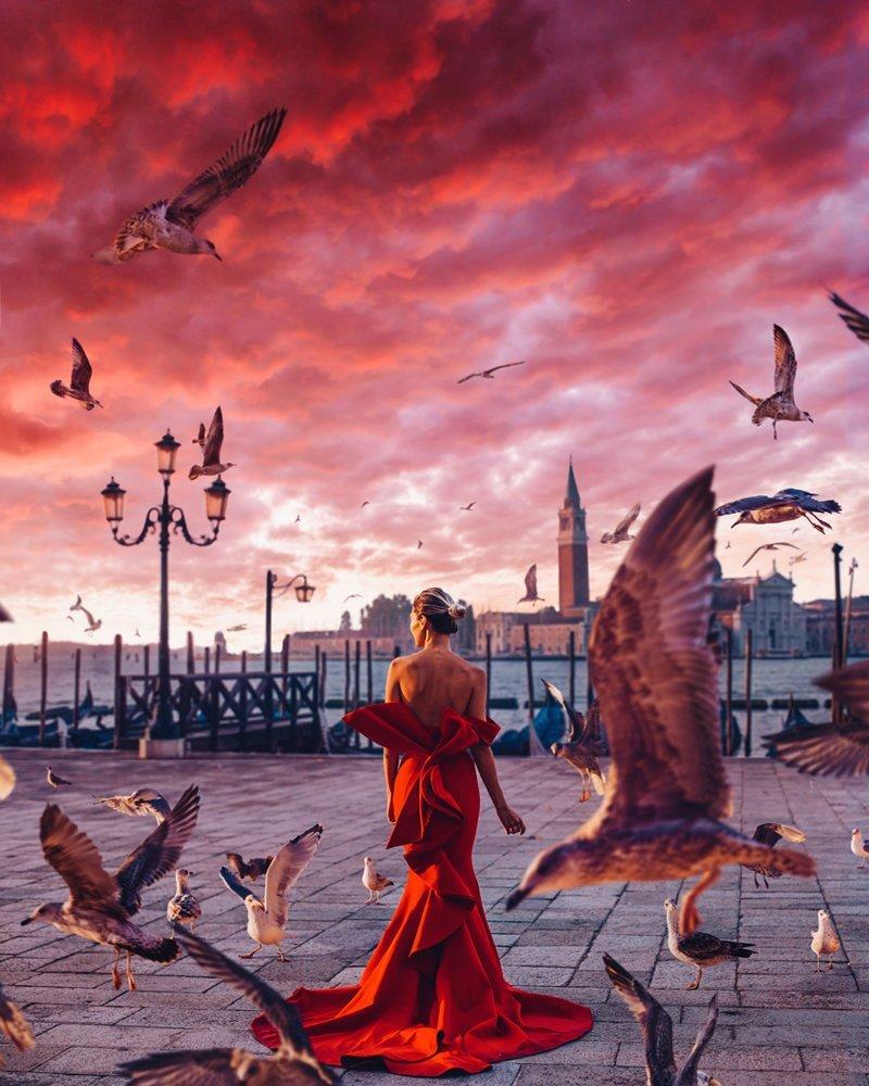 4. Венеция, Италия вау, девушки в платьях, красивые  места, красивые девушки, красота мира, модели, платья, фотопроект