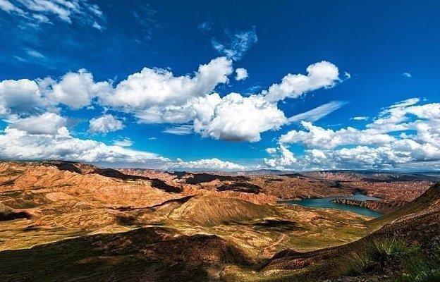 """Китайские СМИ называют парк """"синим океаном""""  Цинхай, китай, мир, солнечная батарея, солнечная ферма, солнце, электроэнергия"""