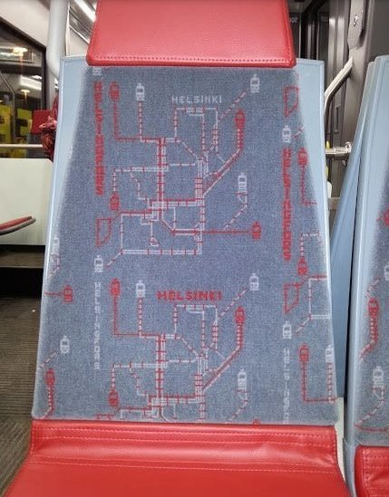 Обивка сидений с картой маршрута авто, автобус, для людей, интересное, люди, общество, транспорт