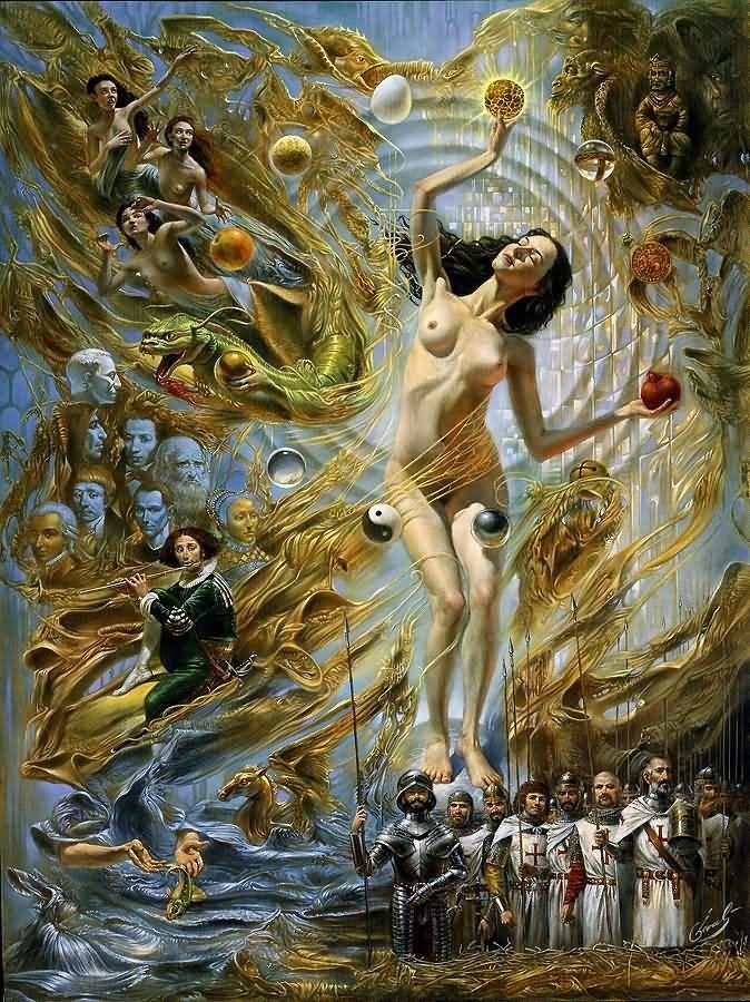 Equilibrium at the Absolute Distinction Михаил Хохлачев, интересное, картины, подражатели, талант