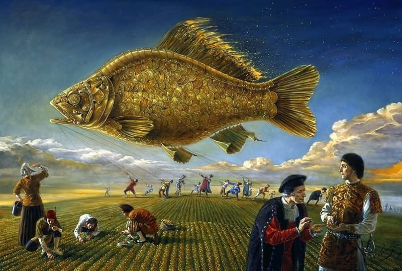 Возвышение золотой рыбки Михаил Хохлачев, интересное, картины, подражатели, талант