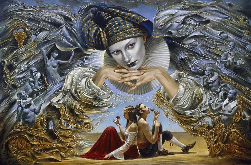 Ангел-хранитель Михаил Хохлачев, интересное, картины, подражатели, талант