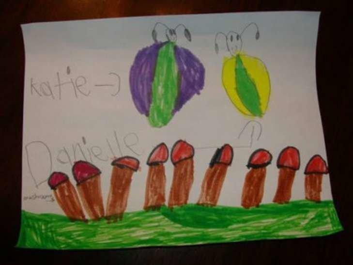 Грибы и бабочки дети, подборка, пошлость, прикол, рисунок, юмор