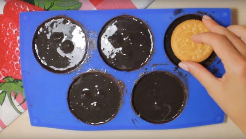 Что это??? Мороженое или Пирожное? видео, видеорецепт, вкусняшки, десерт, еда, кулинария, пошаговый рецепт, рецепт