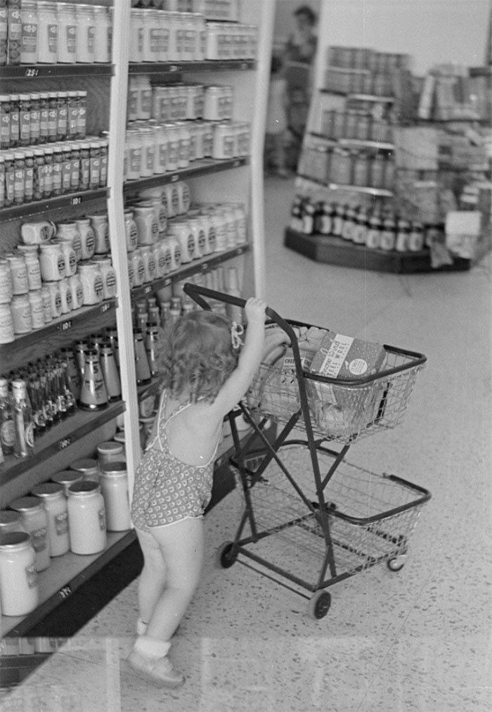 Магазин Coop Store, Гринбелт, Мэриленд, 1938 год винтаж, магазин, ретро, супермаркет, сша, универсам, фотография