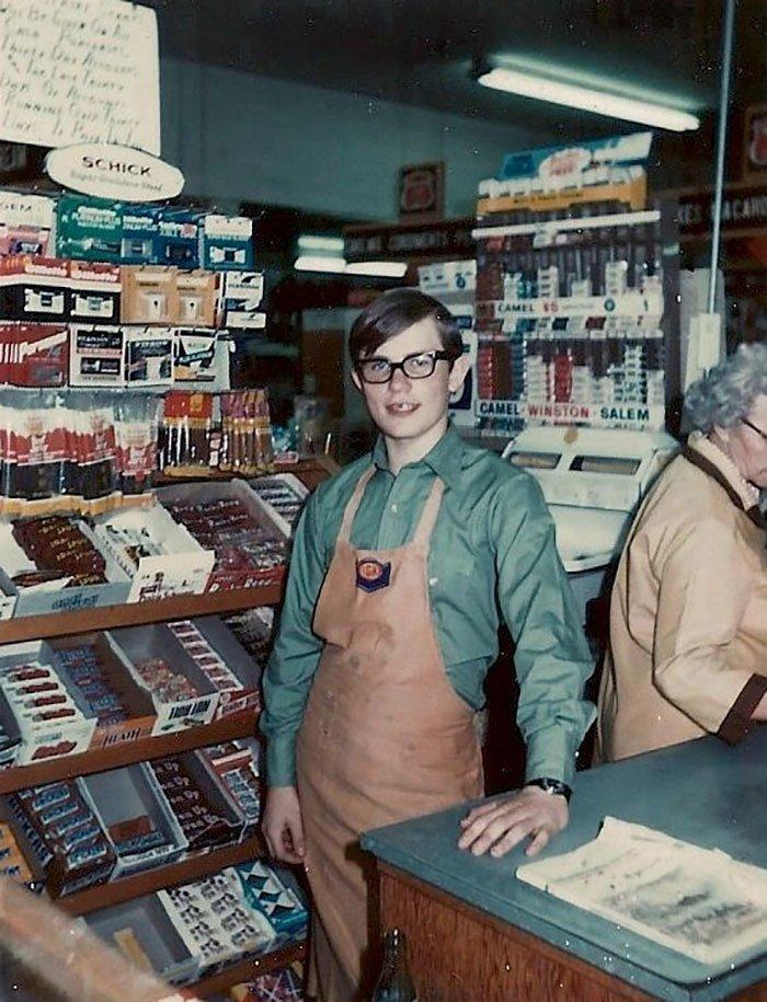 Небольшой сельский магазин продовольственных товаров на юго-востоке Айдахо, 1972 год  винтаж, магазин, ретро, супермаркет, сша, универсам, фотография