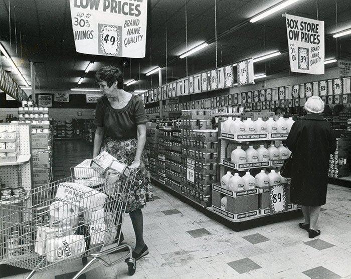 Kmart, Понтиак, Мичиган, 1979 год винтаж, магазин, ретро, супермаркет, сша, универсам, фотография
