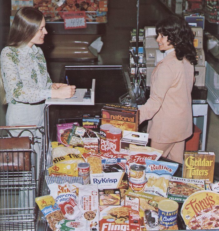 Винтажная реклама магазина  винтаж, магазин, ретро, супермаркет, сша, универсам, фотография